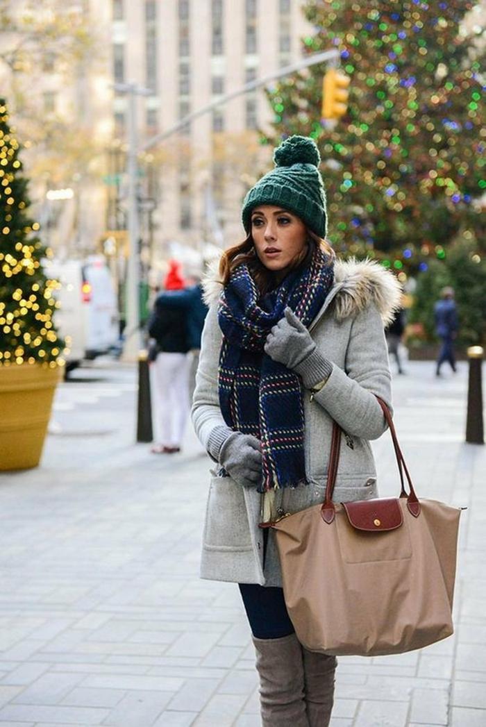 chapeau femme hiver bonnet en vert