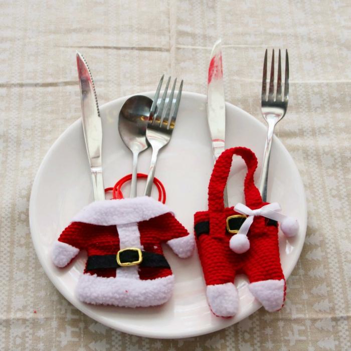 déco amusante idée assiette de Noël