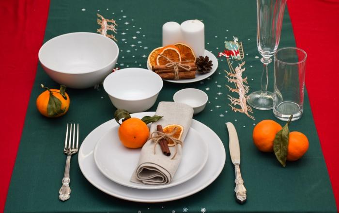 déco assiette de Noël avec de la cannelle