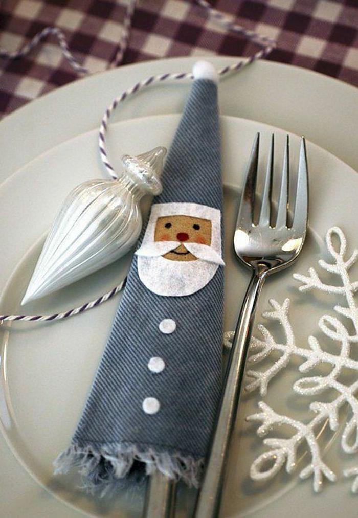 déco intéressante pour assiette de Noël