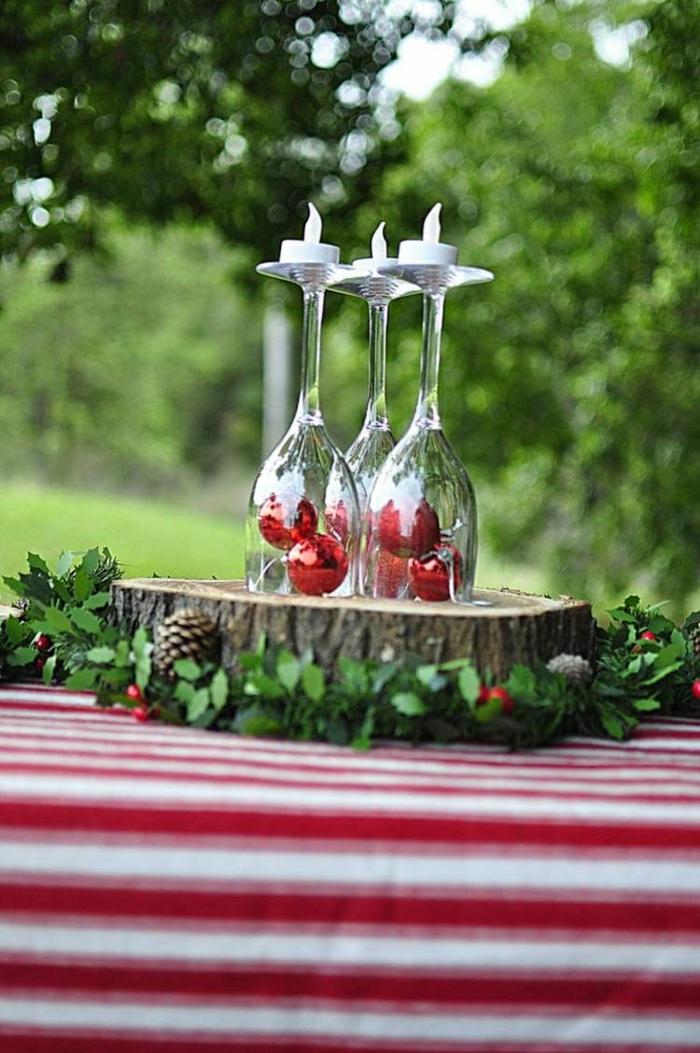déco pour noël avec des verres à vin déco de noël à faire soi-même