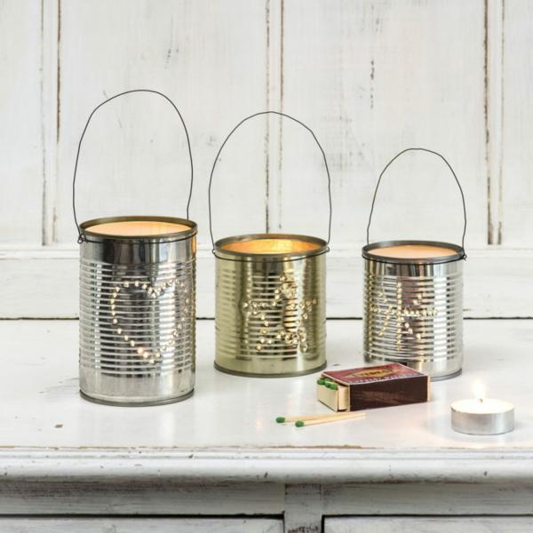 déco table noël à fabriquer lanterne boîte de conserve