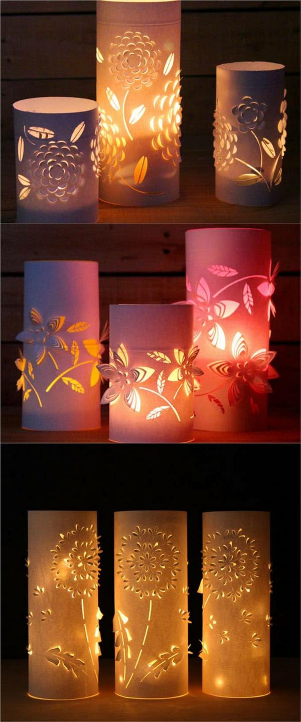 déco table noël à fabriquer lanterne en carton