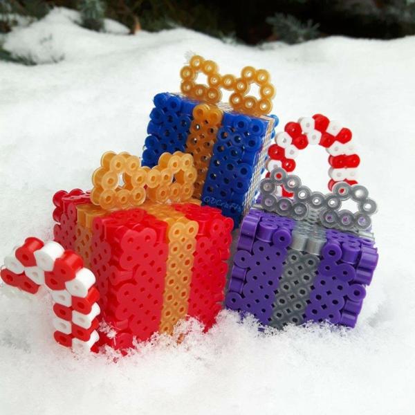 diy cadeaux 3d en perles à repasser
