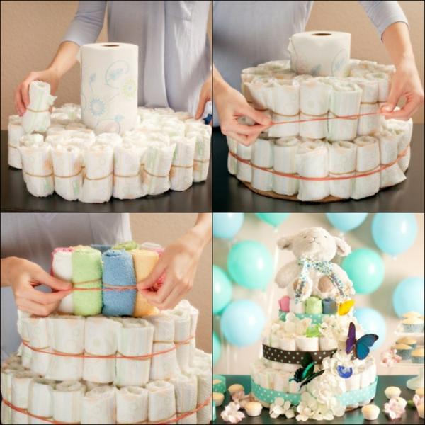 diy gâteau de couches 3 niveaux technique