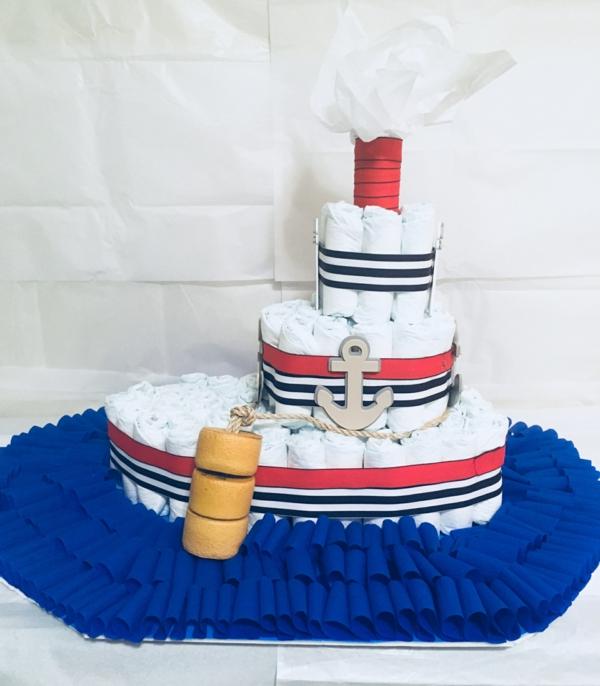 diy gâteau de couches bateau