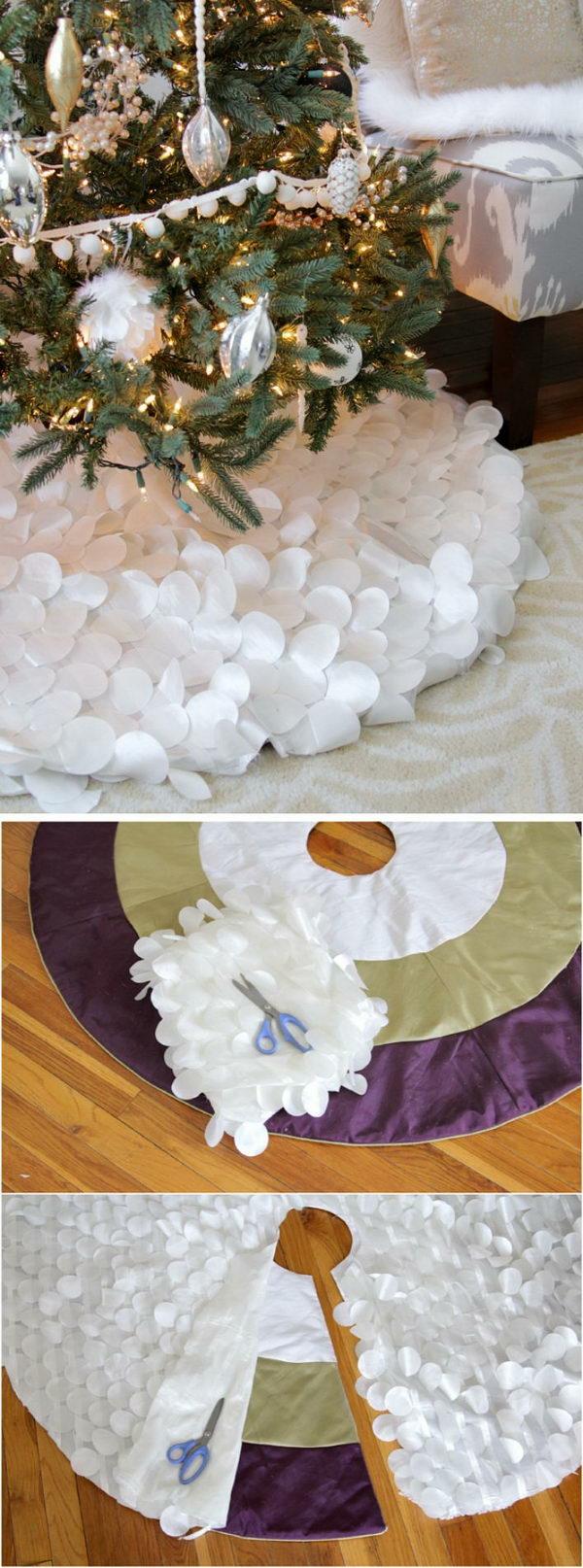 diy jupe de sapin déco cercles en textile