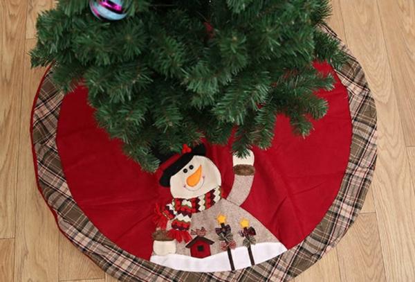 diy jupe de sapin textile déco bonhomme de neige