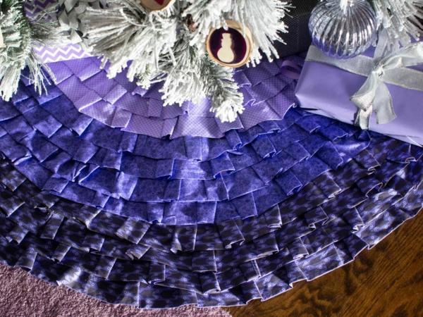 diy jupe de sapin textile plissé