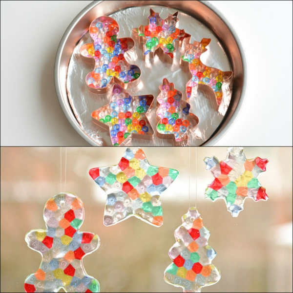 diy ornements de sapin de perles à repasser emporte-pièces