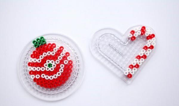 fabriquer des ornements de sapin en perles à repasser