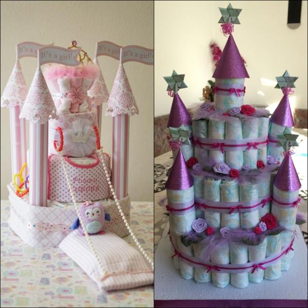 fabriquer un gâteau de couches château