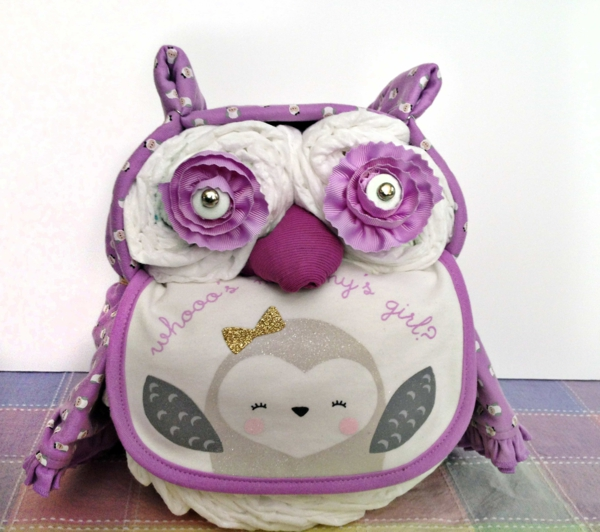 fabriquer un gâteau de couches forme d'hibou