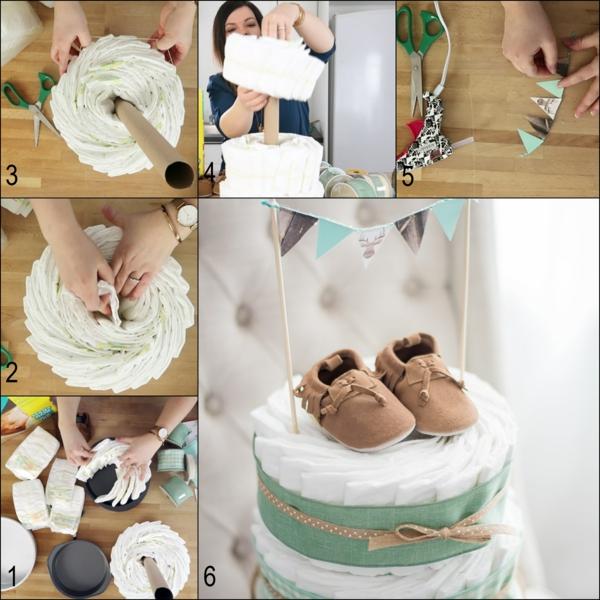 fabriquer un gâteau de couches rouleau d'essuie-tout
