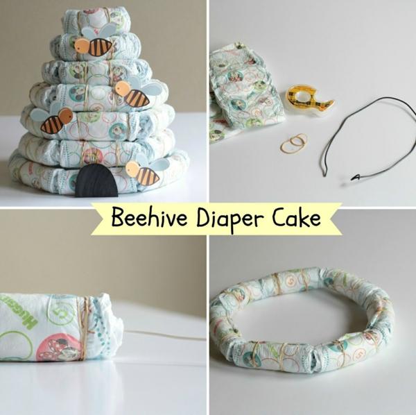 fabriquer un gâteau de couches ruche d'abeilles