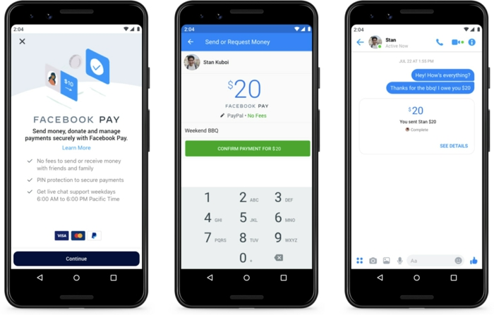 facebook pay paiement
