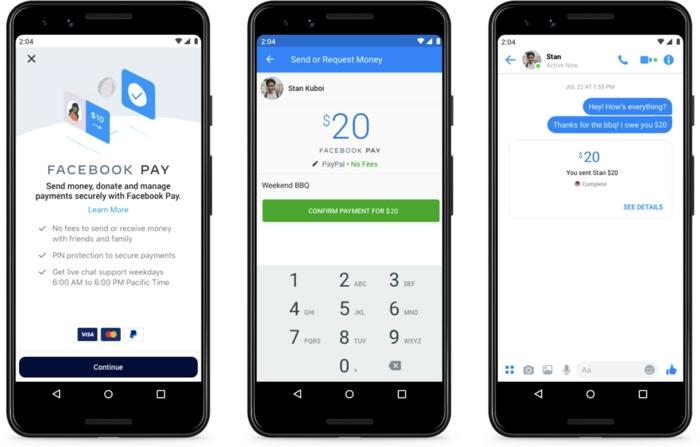 facebook pay paiement