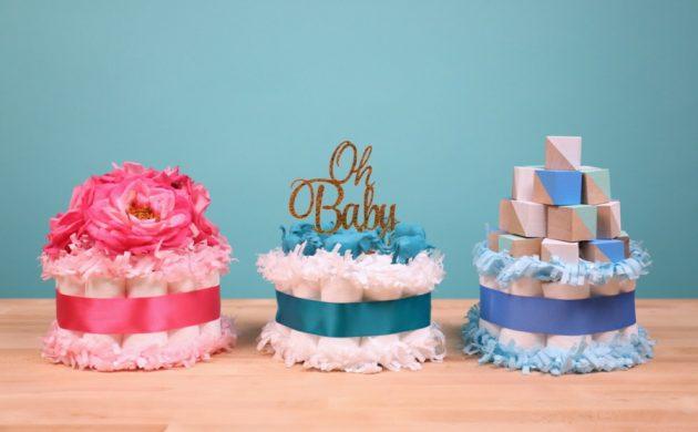 fabriquer un gâteau de couches