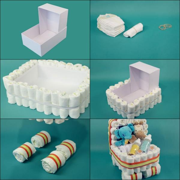 gâteau de couches à fabriquer voiturette d'enfant