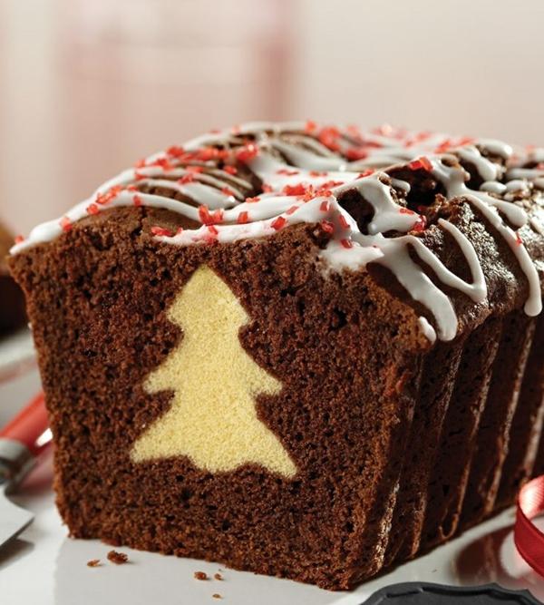 gâteau sapin de noël à la poudre de cacao