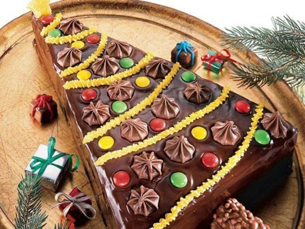 gâteau sapin de noël au chocolat
