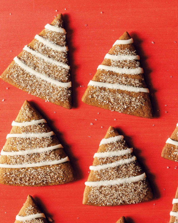 gâteau sapin de noël biscuits triangles