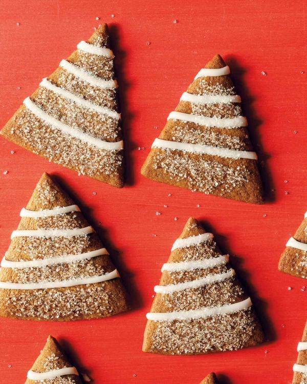 gâteau sapin de noël biscuits triangles