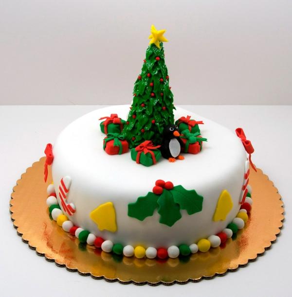 gâteau sapin de noël pâte à sucre