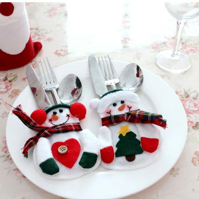 idée amusante déco assiette de Noël