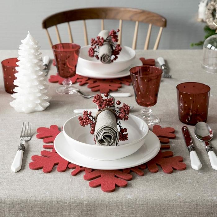 idée assiette de Noël comment décorer