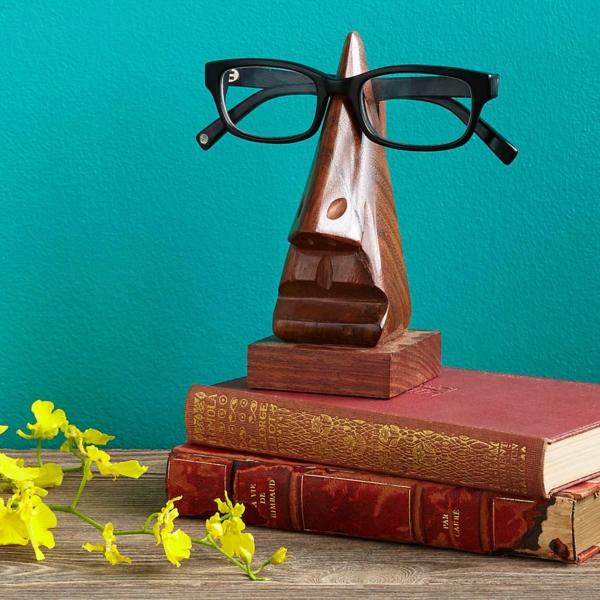 idée cadeau noël papa support de lunettes design
