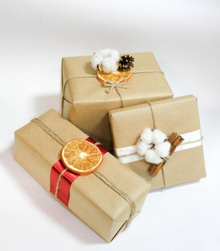 idée comment emballer un cadeau noël