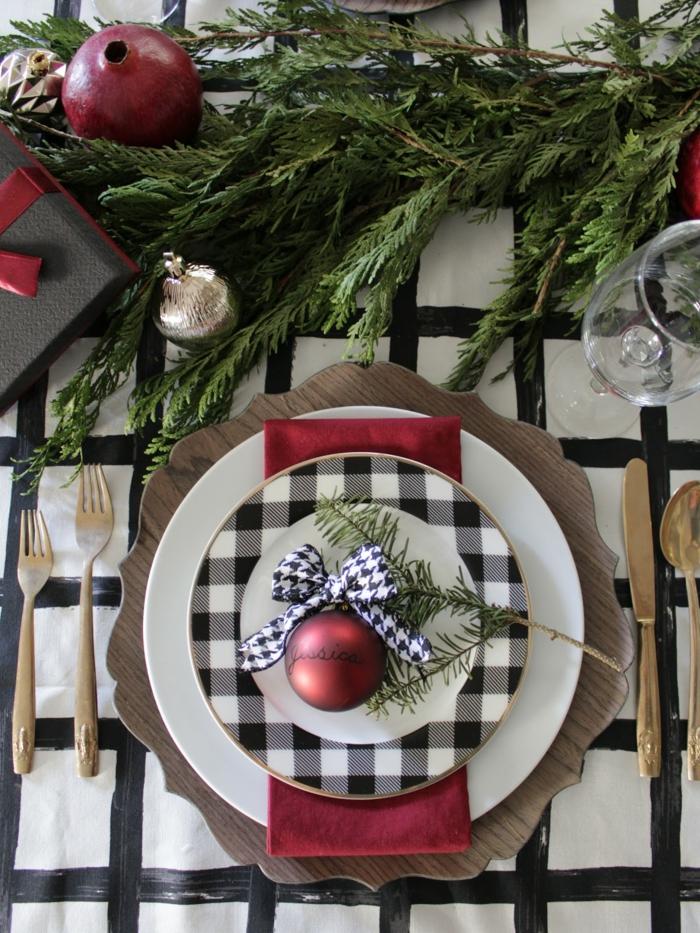 idée déco assiette de Noël