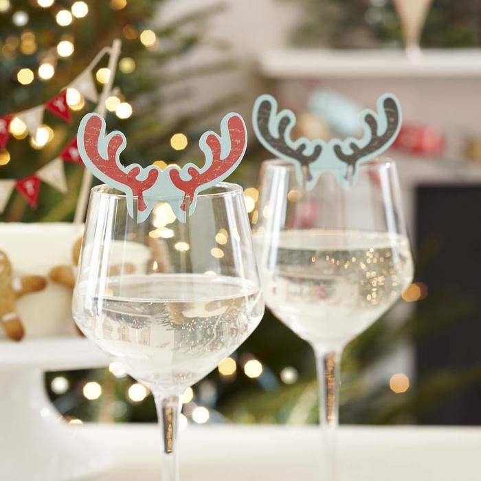 idée déco de noël à faire soi-même verre à vin transformé diy
