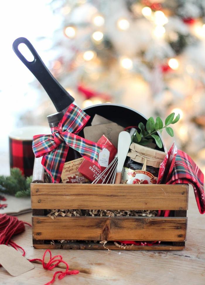 idée de cadeau gourmand à offrir avec une poêle