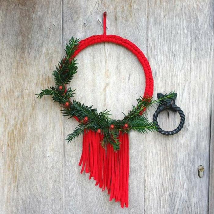idée tricoter couronne de noël originale