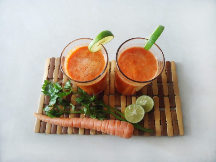 jus de carotte un smoothie de carottes