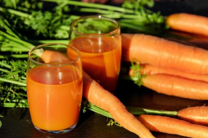 jus de carotte plein de fibres