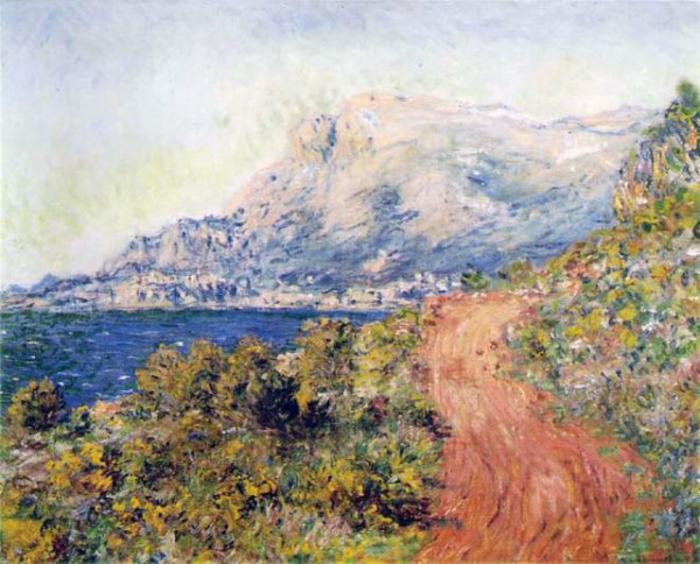 la route rouge près de Menton Claude Monet atelier des lumières expo 2020 voyages en méditerranée