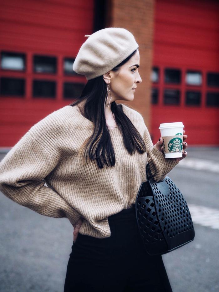 look tendance chapeau femme hiver béret
