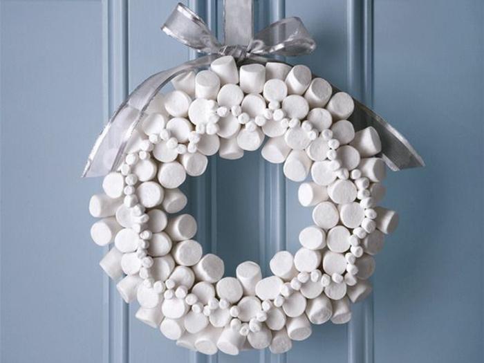 marshmallow couronne de noël originale