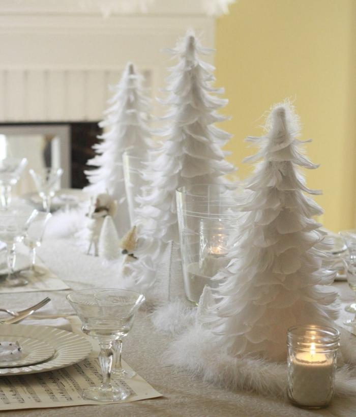 noël en blanc assiette de Noël