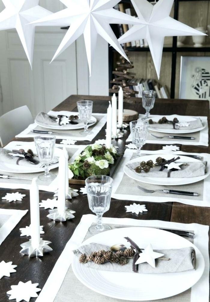 noël en blanc déco assiette de Noël