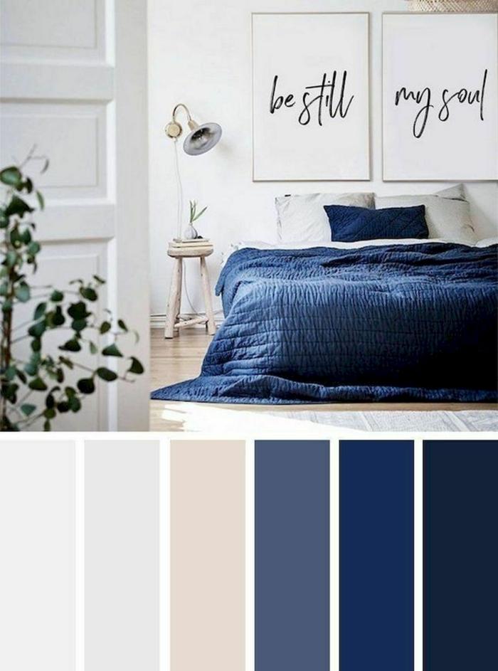 bleu avec gris et beige classic blue couleur pantone 2020