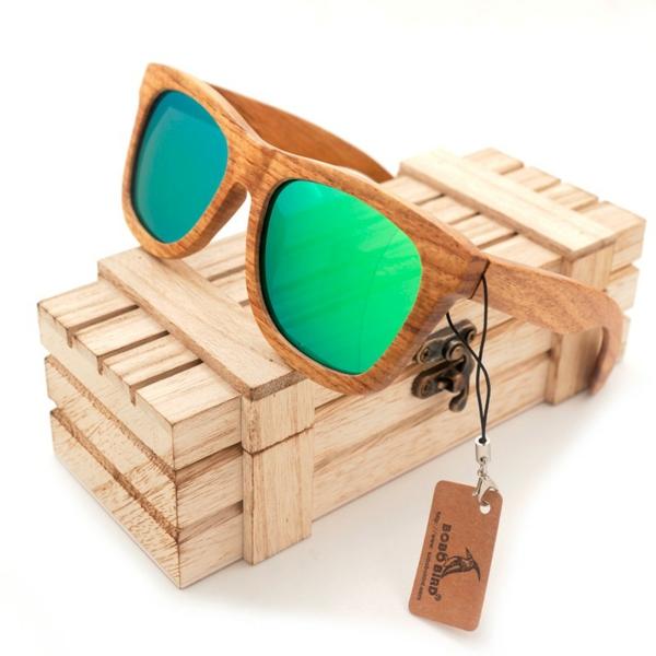 cadeau zéro déchet lunettes de soleil en bois