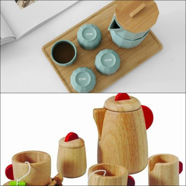 cadeau zéro déchet vaisselle thé et café en bois ou céramique