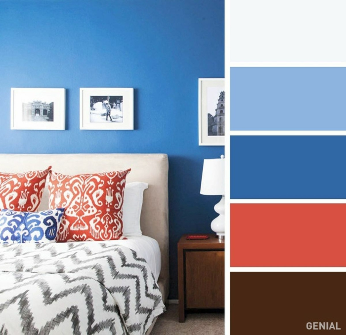 classic blue couleur pantone 2020 chambre