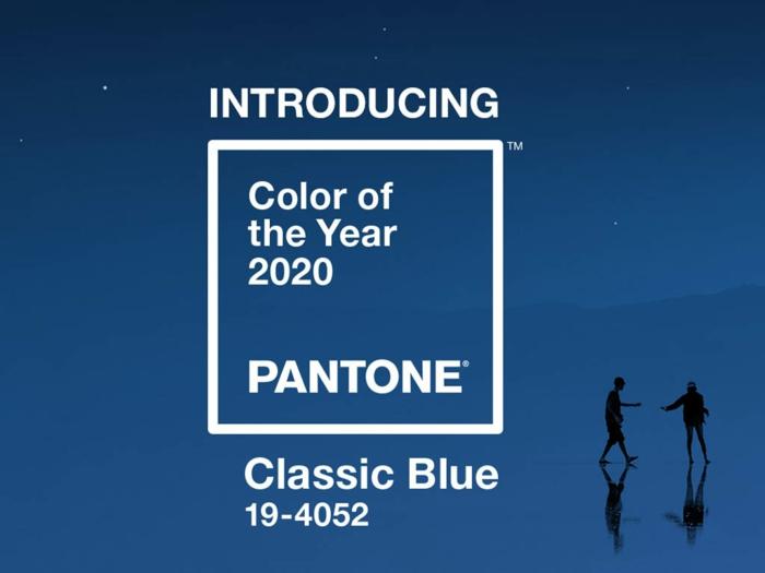 classic blue couleur pantone année 2020