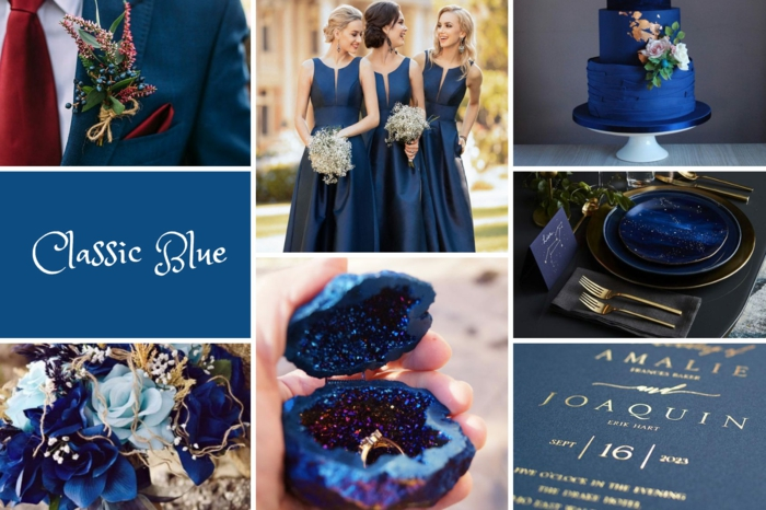 couleur thème de mariage classic blue couleur pantone 2020