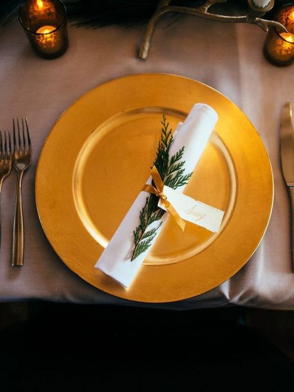 déco mariage hiver anneau pour serviette
